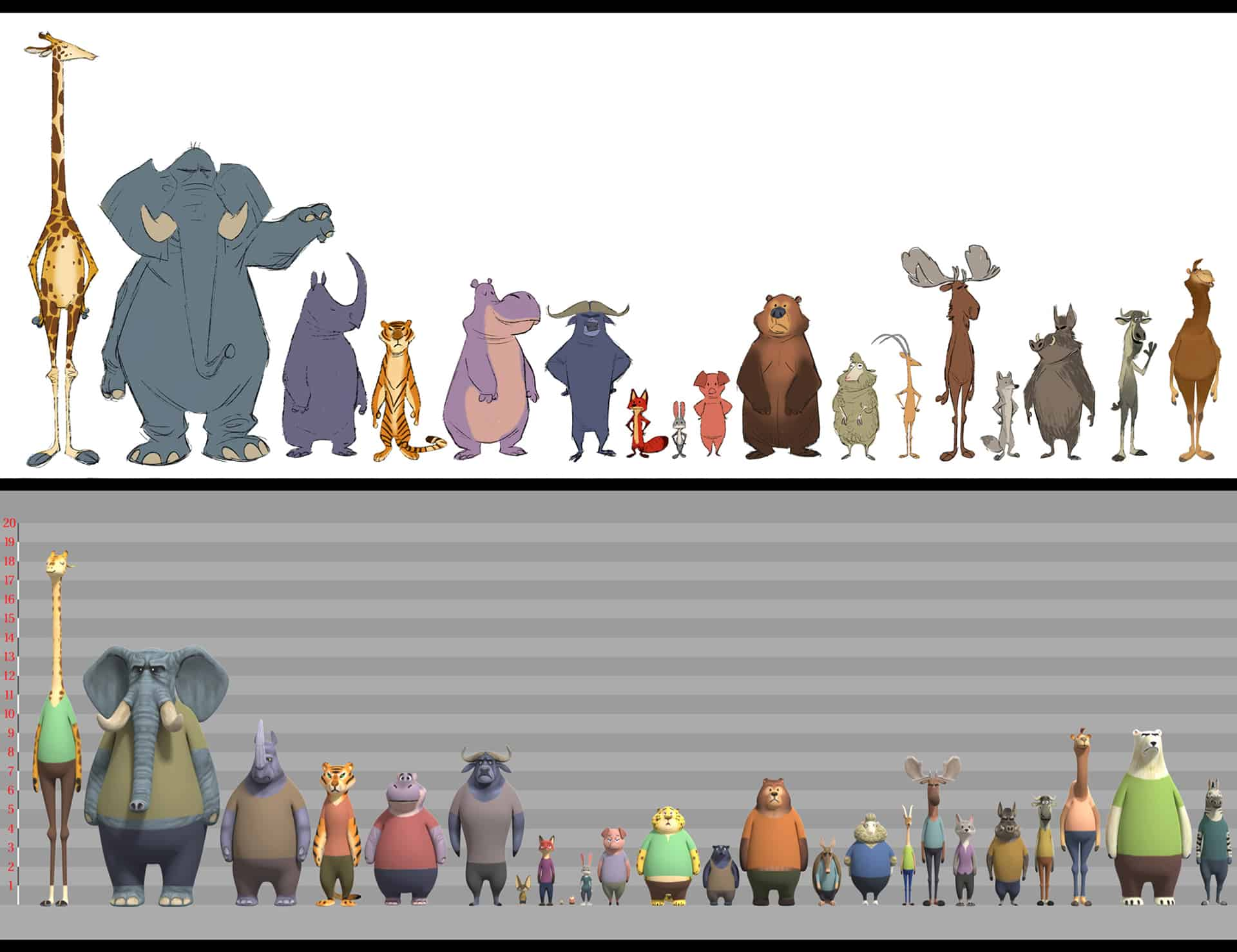 About Zootopia with Directors Byron Howard & Rich Moore and Producer Clark Spencer ZOOTOPIA – Character CG Model Lineup. ©2015 Disney. All Rights Reserved.