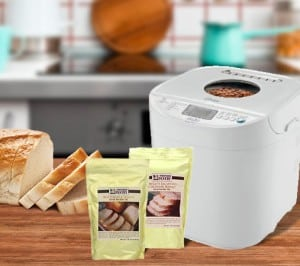 Bread machine + 2 Prepared Pantry bread mixes