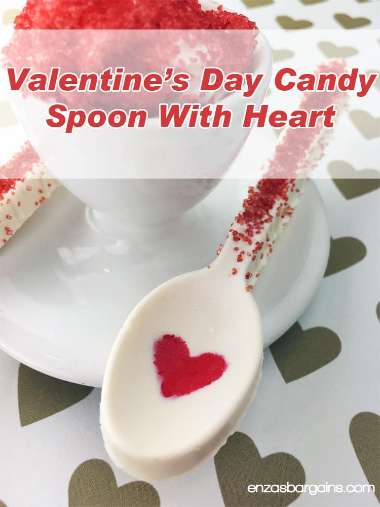 Valentine's Day Candy Spoon with Heart