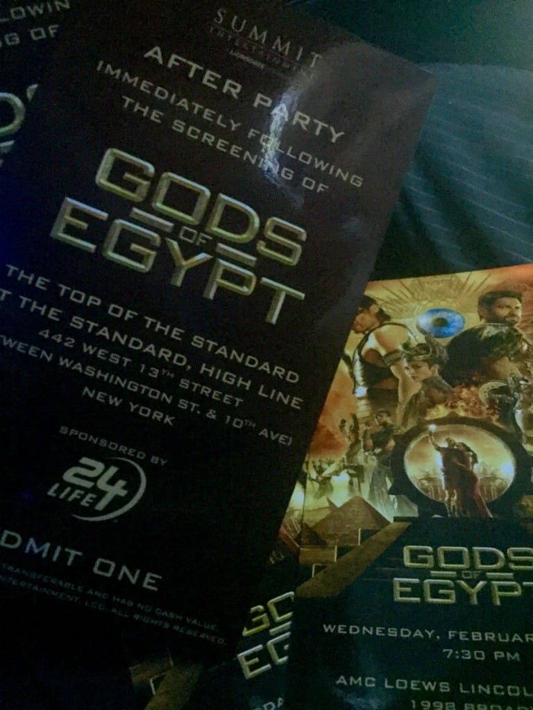Gods Of Egypt After Party