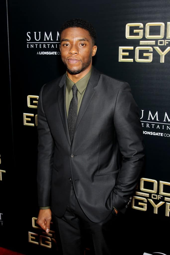 """- New York, NY - 2/24/16 - Summit Entertainment - A Lionsgate Company Presents the New York Premiere of """"Gods of Egypt"""" -PICTURED: Chadwick Boseman -PHOTO by: Marion Curtis/StarPix"""