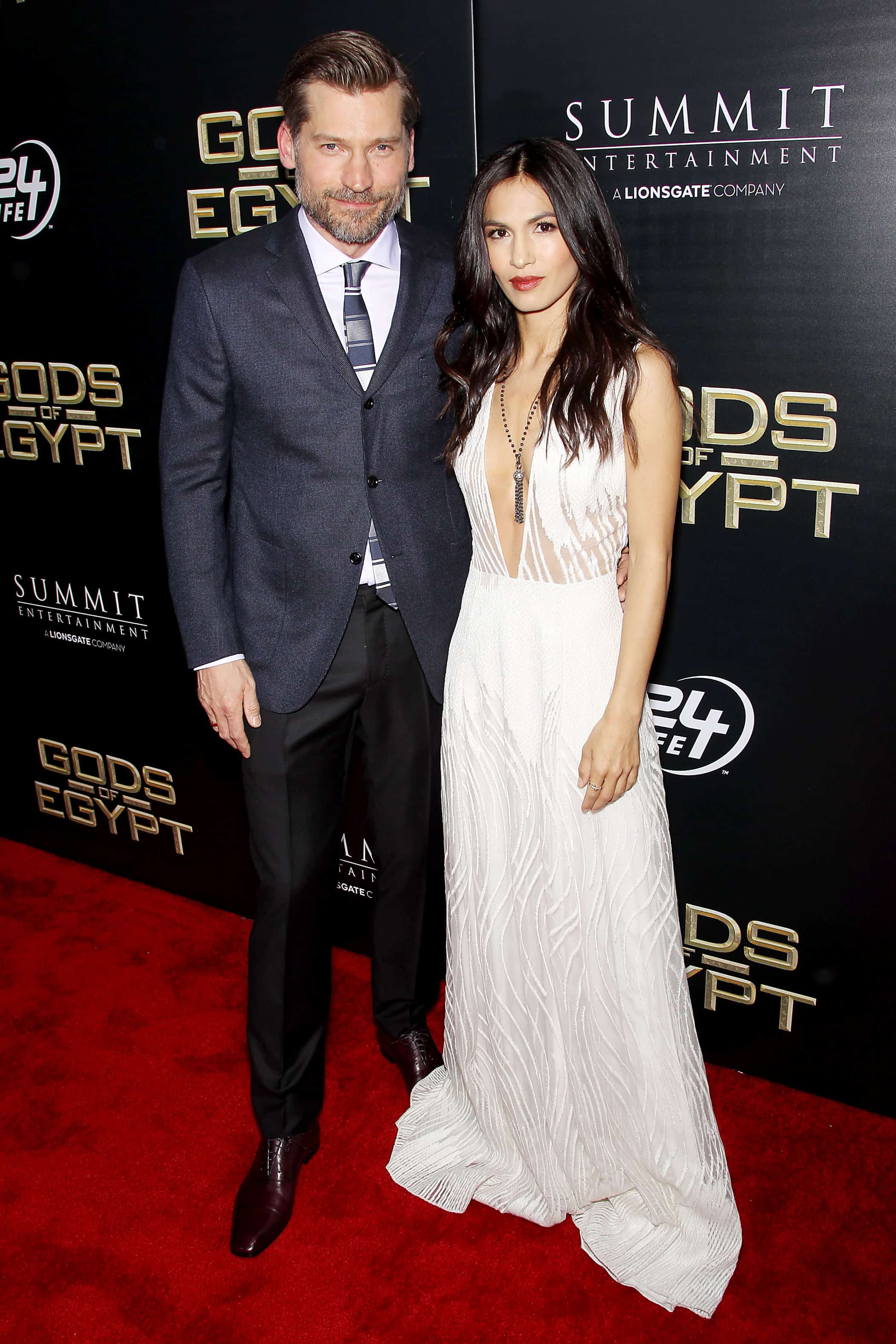 """- New York, NY - 2/24/16 - Summit Entertainment - A Lionsgate Company Presents the New York Premiere of """"Gods of Egypt"""" -PICTURED: Nikolaj Coster-Waldau, Elodie Yung -PHOTO by: Marion Curtis/StarPix -FILENAME: MC_16_01084045.JPG -LOCATION: AMC Lowes Lincoln Square 13 Startraks Photo New York,  NY For licensing please call 212-414-9464  or email sales@startraksphoto.com Image may not be published in any way that is or might be deemed defamatory, libelous, pornographic, or obscene. Please consult our sales department for any clarification or question you may have. Startraks Photo reserves the right to pursue unauthorized users of this image. If you violate our intellectual property you may be liable for actual damages, loss of income, and profits you derive from the use of this image, and where appropriate, the cost of collection and/or statutory damages."""