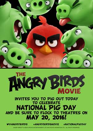 Angry Birds Movie Coloring Pages - National Pig Day