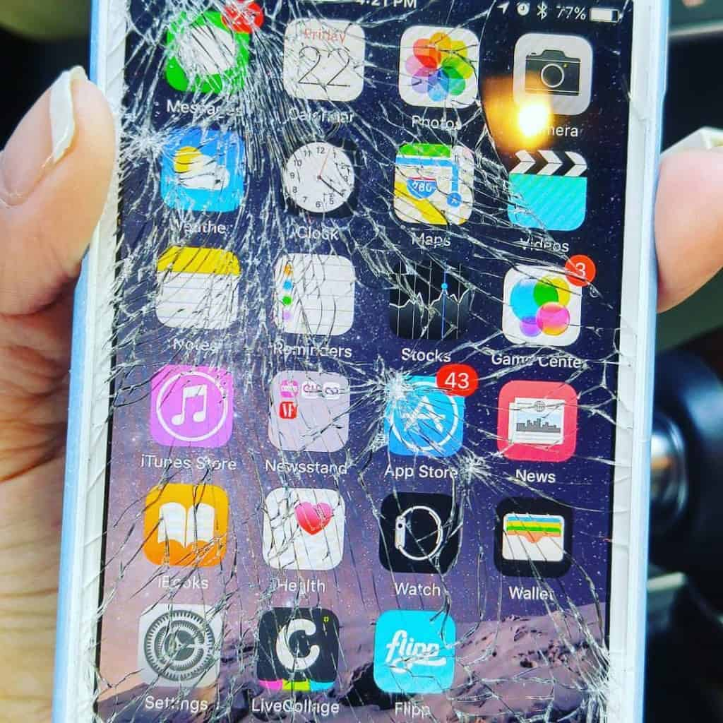 When my iPhone Screen Shattered - Ugh!