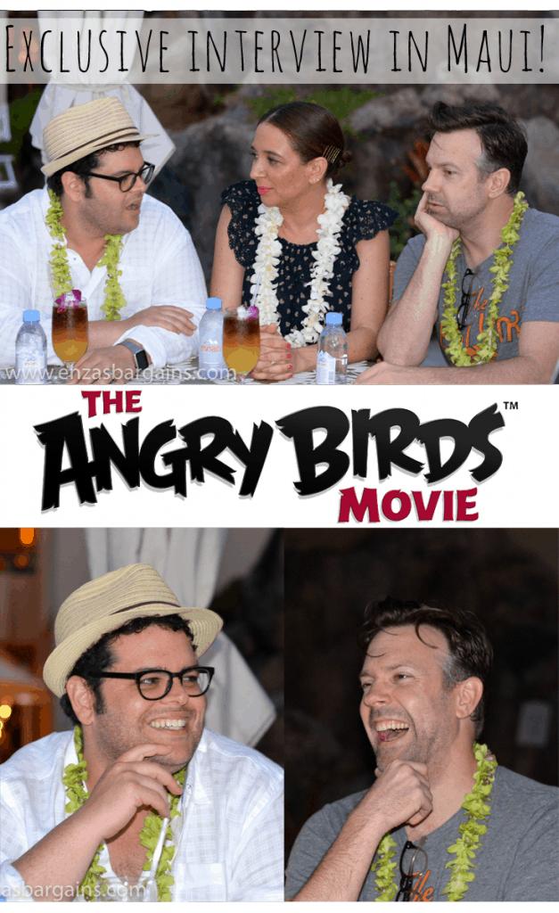 Angry Birds Movie Interview with Jason Sudeikis, Josh Gad, and Maya Rudolph!
