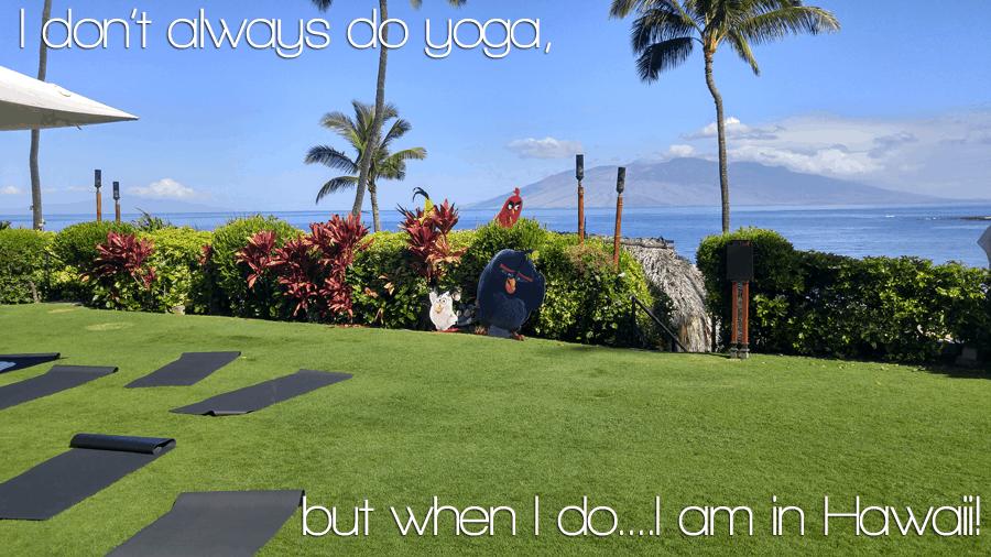 I don't always do yoga, but when I do it is in HAWAII - Angry Birds Movie