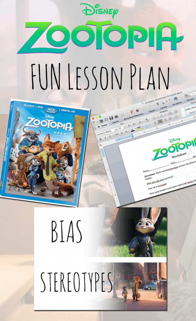 Zootopia Lesson Plan Teaching Kids About Bias Vs Stereotypes. Zootopia Lesson Plan. Worksheet. Generic Movie Worksheets For Teachers At Clickcart.co