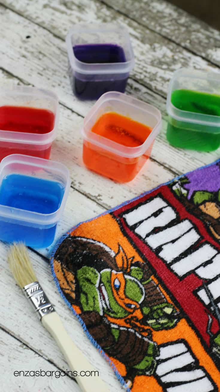 Homemade Bath Paint for Kids! TMNT craft!