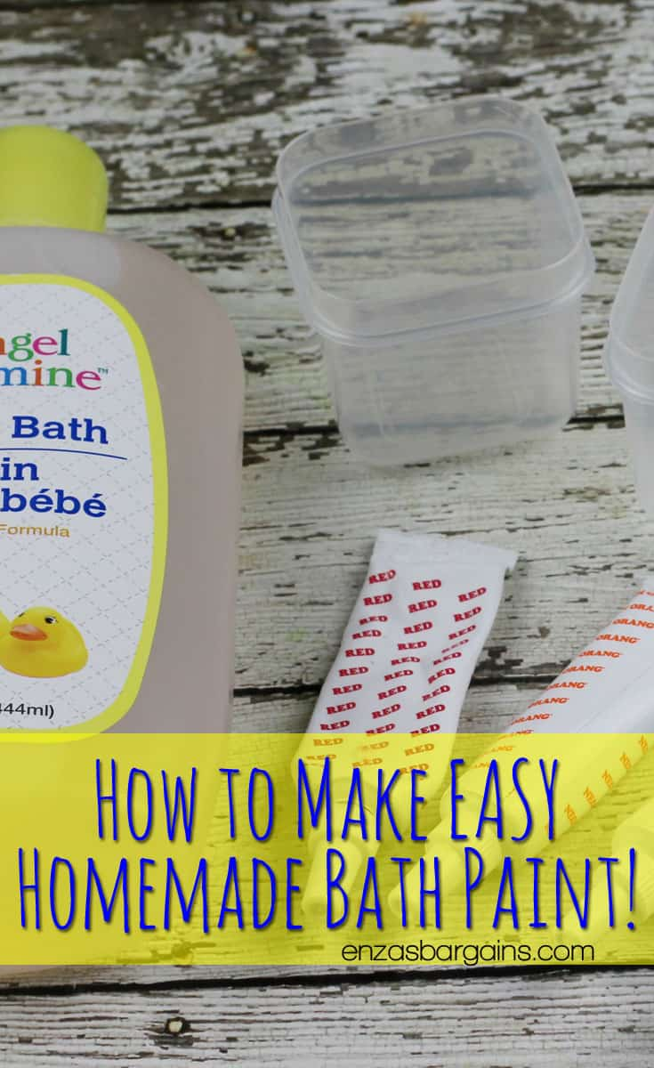 Homemade Bath Paint for Kids!