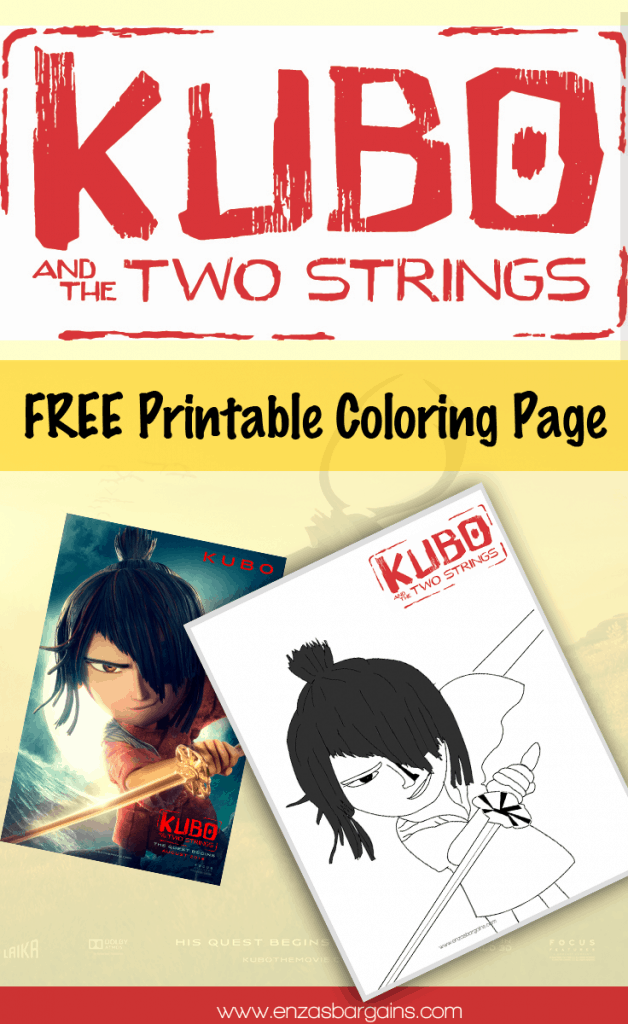 Free Kubo Coloring Sheet from Kubo and the Two Strings