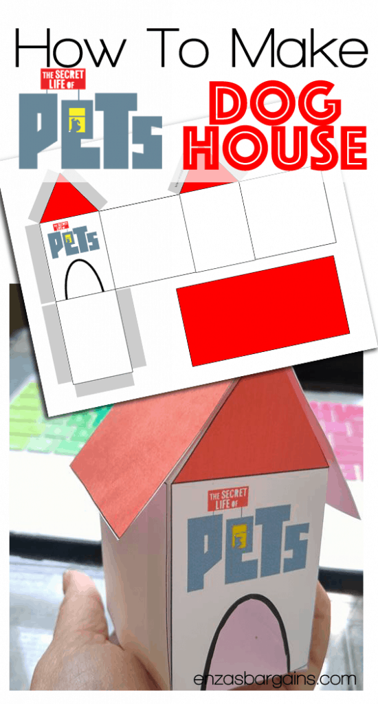 Secret Life of Pets Craft – Dog House Free Printable