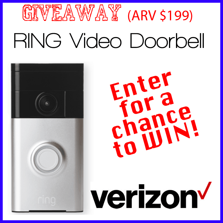 Verizon Ring Video Doorbell Giveaway #Ring #VZWBuzz