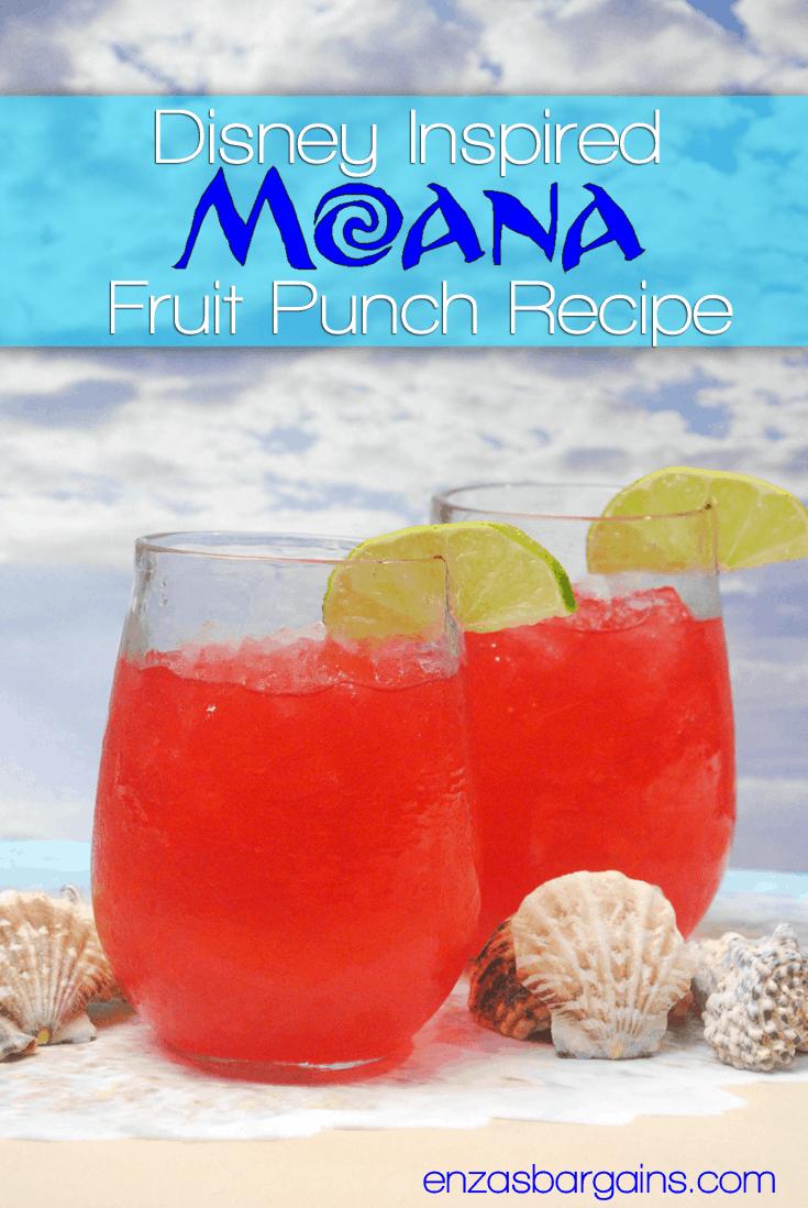Disney Moana Recipe - Fruit Punch
