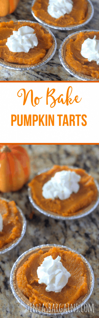 No Bake Pumpkin Pie Tarts
