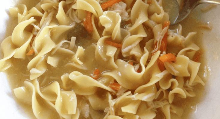Chicken Noodle Soup Crock Pot Recipe with Sanderson Farms Chicken