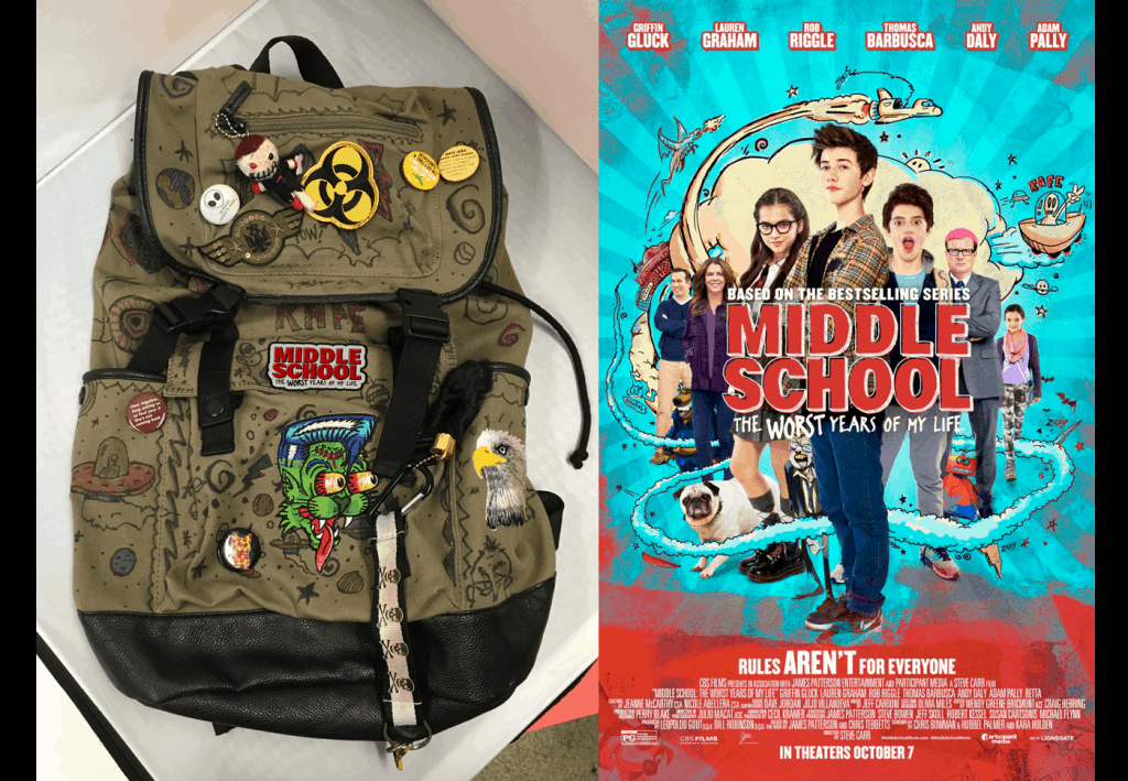 Middle School Movie Backpack Giveaway