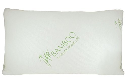 Bamboo Pillow with Shredded Down Alternative and Stay Cool