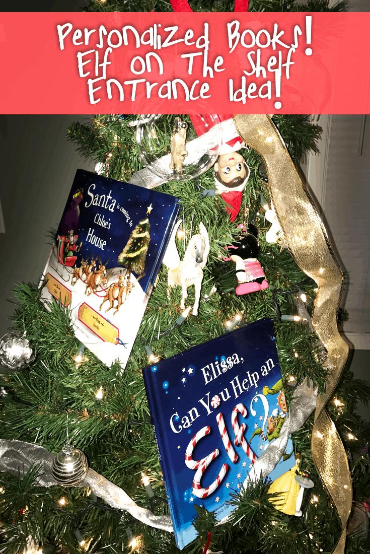 Creative Elf on the Shelf Entrance Idea- #EBHolidayGiftGuide