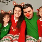 Family Matching Christmas Pajamas Reindeer