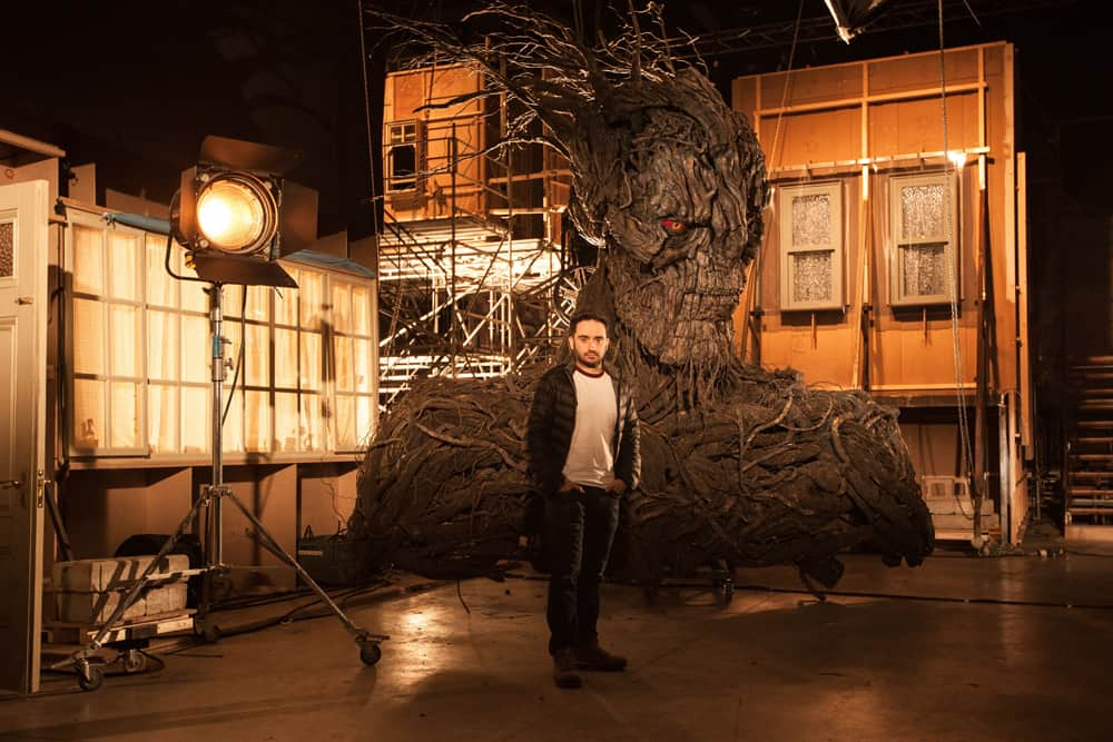 Director J.A. Bayona on the set of his visually spectacular and stunningly emotional drama A MONSTER CALLS, a Focus Features release. Credit : Quim Vives / Focus Features