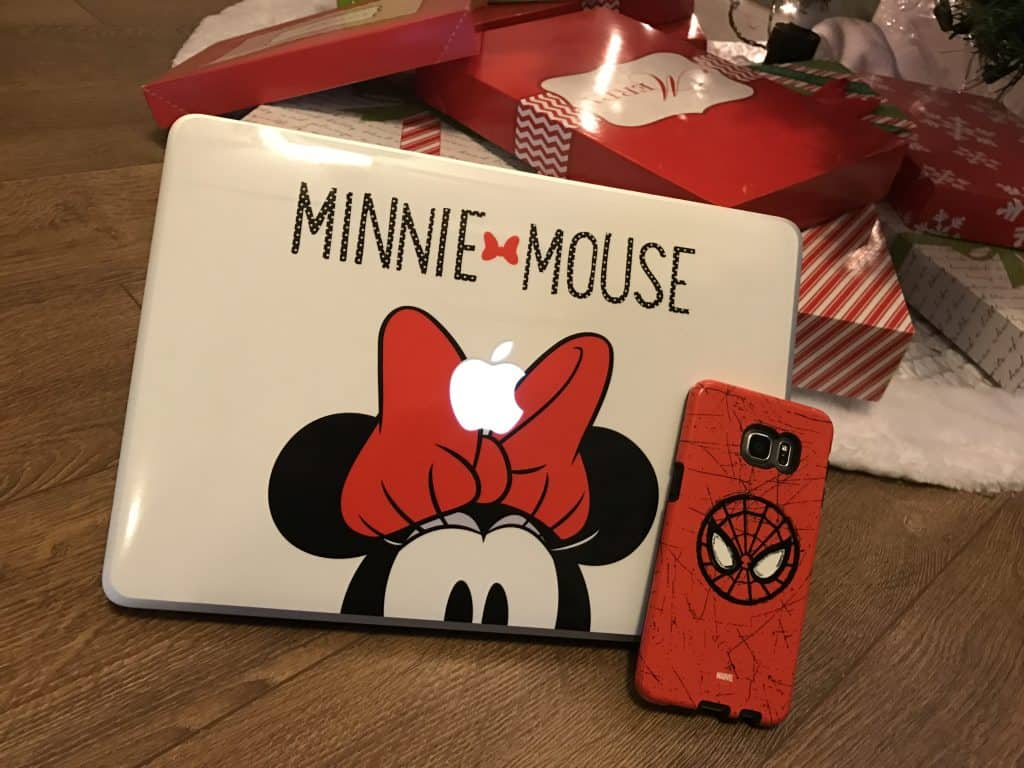 Skinit Spider Man Galaxy S6 Case and Minnie Mouse Macbook Skin - #EBHolidayGiftGuide