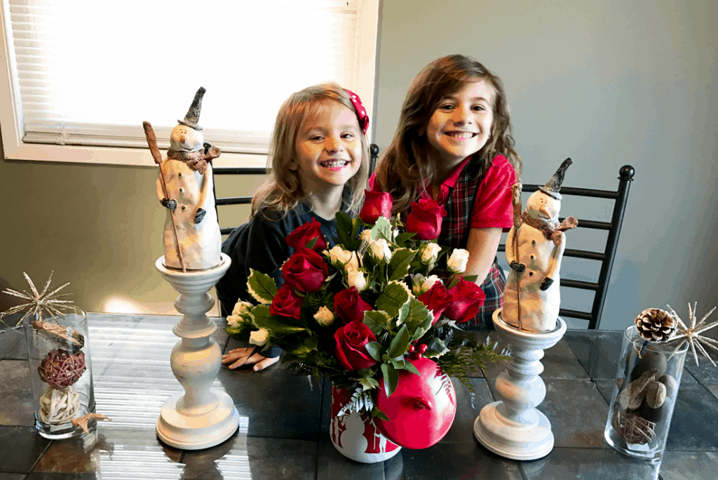 Teleflora's Snow Day Bouquet - #EBHolidayGiftGuide