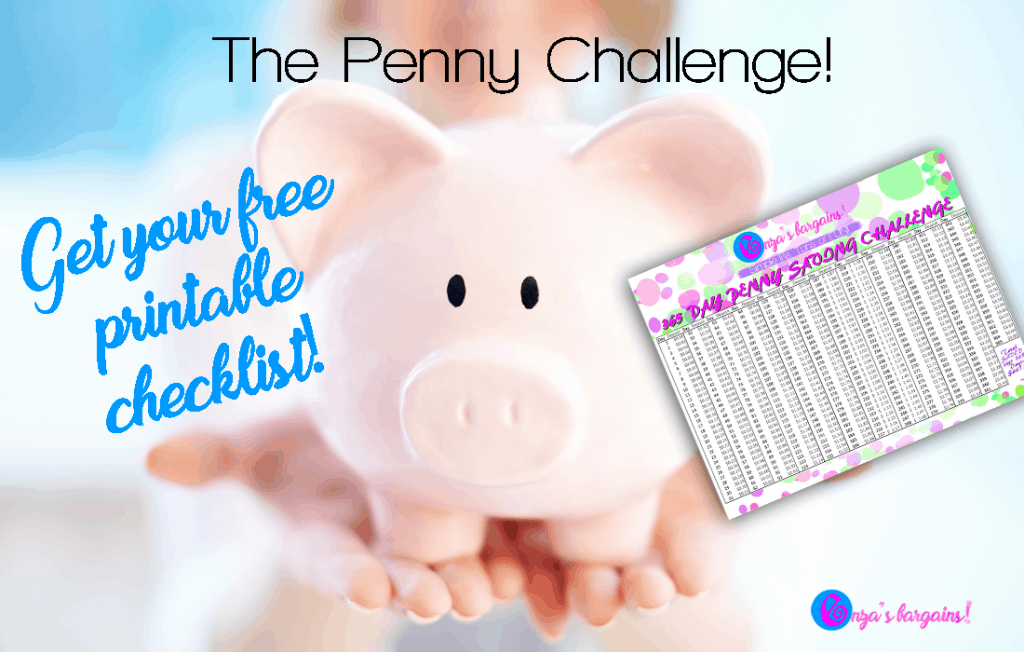 Penny Savings Challenge Checklist - FREE Printable