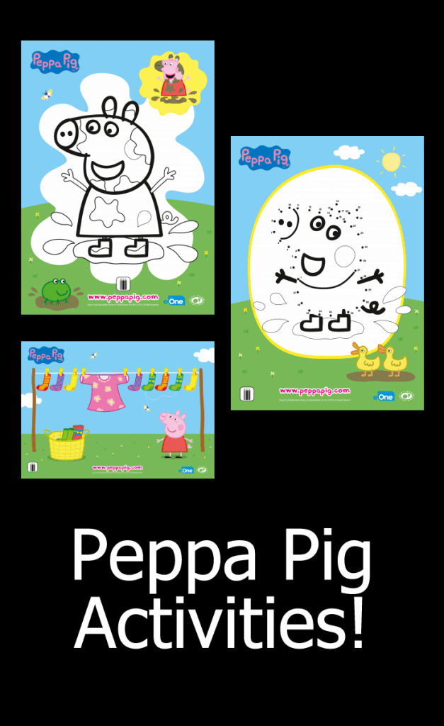 Peppa Pig Activities - FREE Printable Coloring Sheets and MORE!