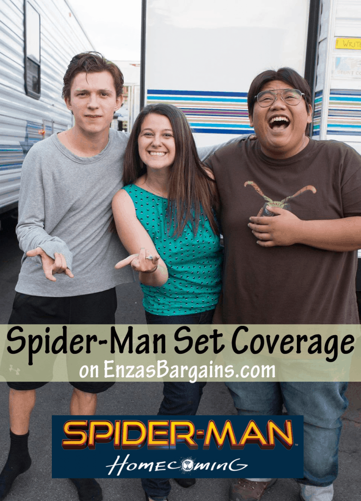 Spider-Man Homecoming Set Visit SNEAK PREVIEW (I MET SPIDEY!)