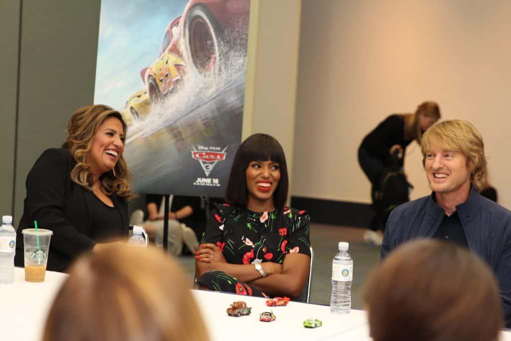 Cars 3 Cast Interview With Owen Wilson, Kerry Washington, Cristela Alonzo & Armie Hammer…#Cars3Event