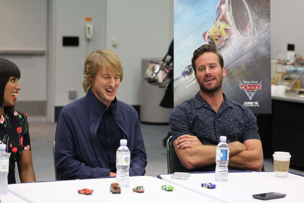 Cars 3 Cast Interview With Owen Wilson, Kerry Washington, Cristela Alonzo & Armie Hammer…#Cars3Event