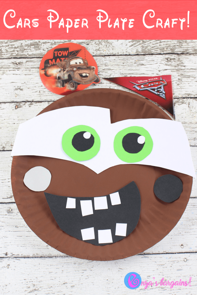 Cars 3 Craft: Mater Paper Plate