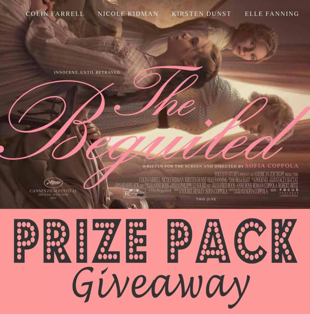 The Beguiled Review and Prize Pack Giveaway (5 winners)!