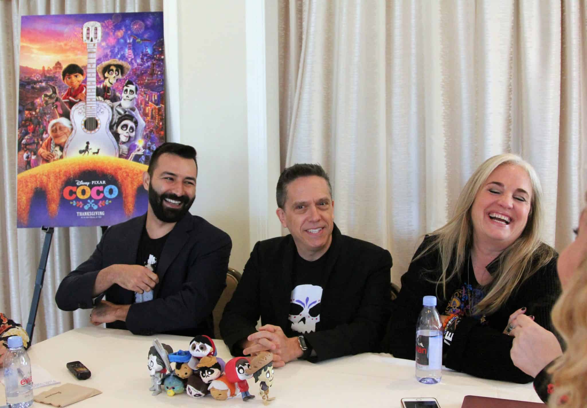 COCO Director Lee Unkrich, Writer & Co-Director Adrian Molina and Producer Darla K. Anderson Interview