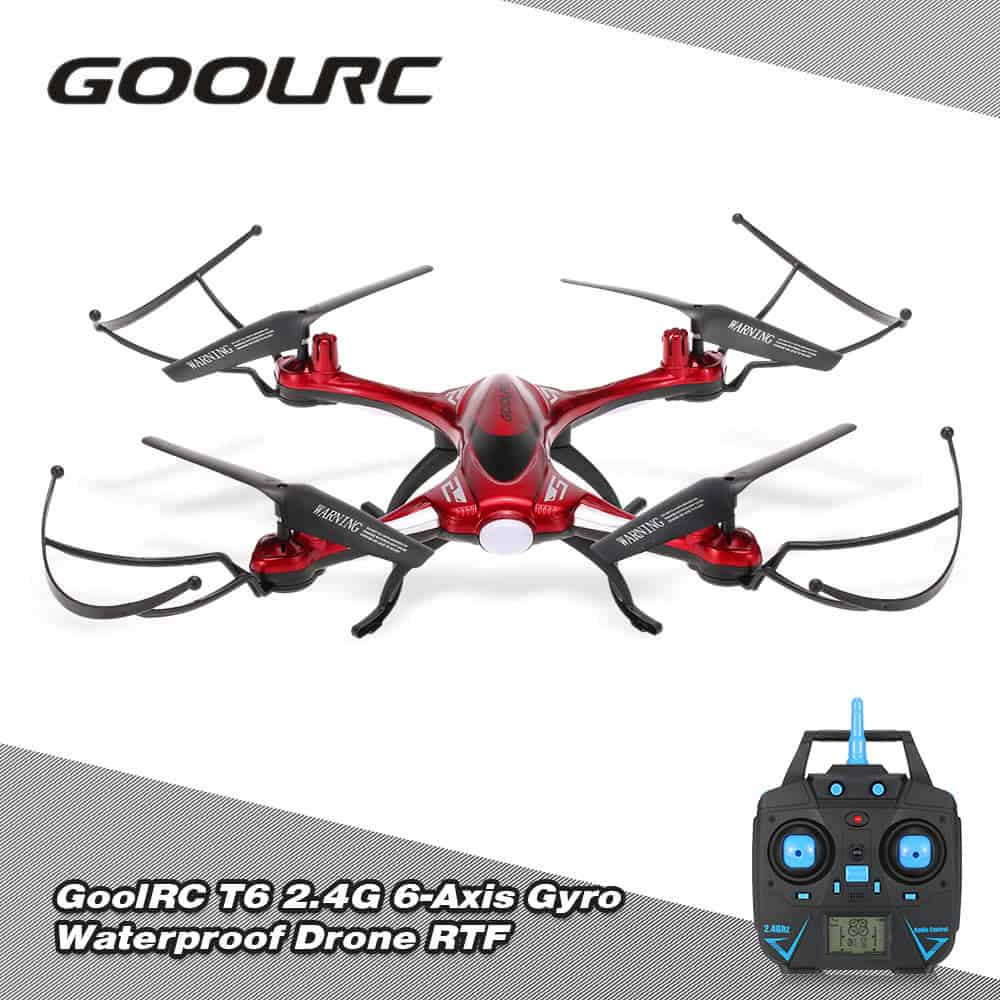Cafago coupon code: GoolRC T6 2.4G Waterproof Drone RTF Sale - #EBHolidayGiftGuide
