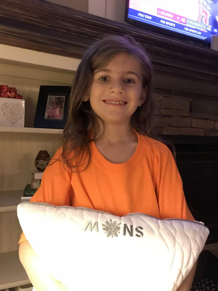 Snow Cooling Pillow Review - #EBHolidayGiftGuide