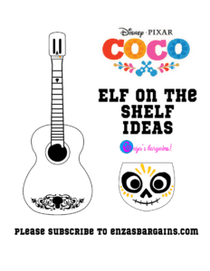 Elf on the Shelf COCO or Day of the Dead - FREE Printable