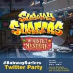 Subway Surfers : The Winter Mystery Twitter Party #SubwaySurfers