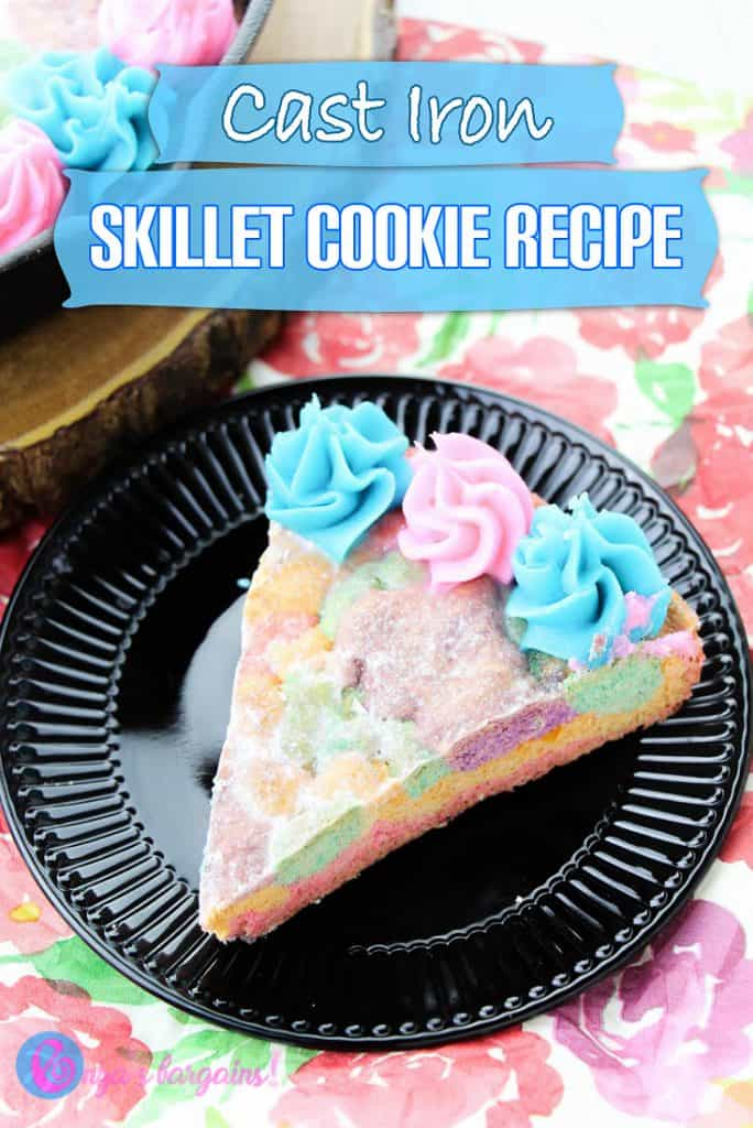 Skillet Cookie Recipe made with a Cast Iron Skillet