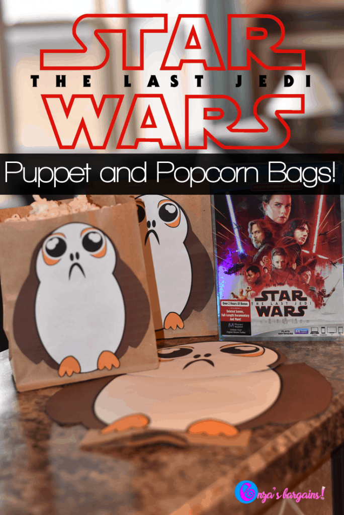 Star Wars: The Last Jedi Porgs Craft and Puppets!