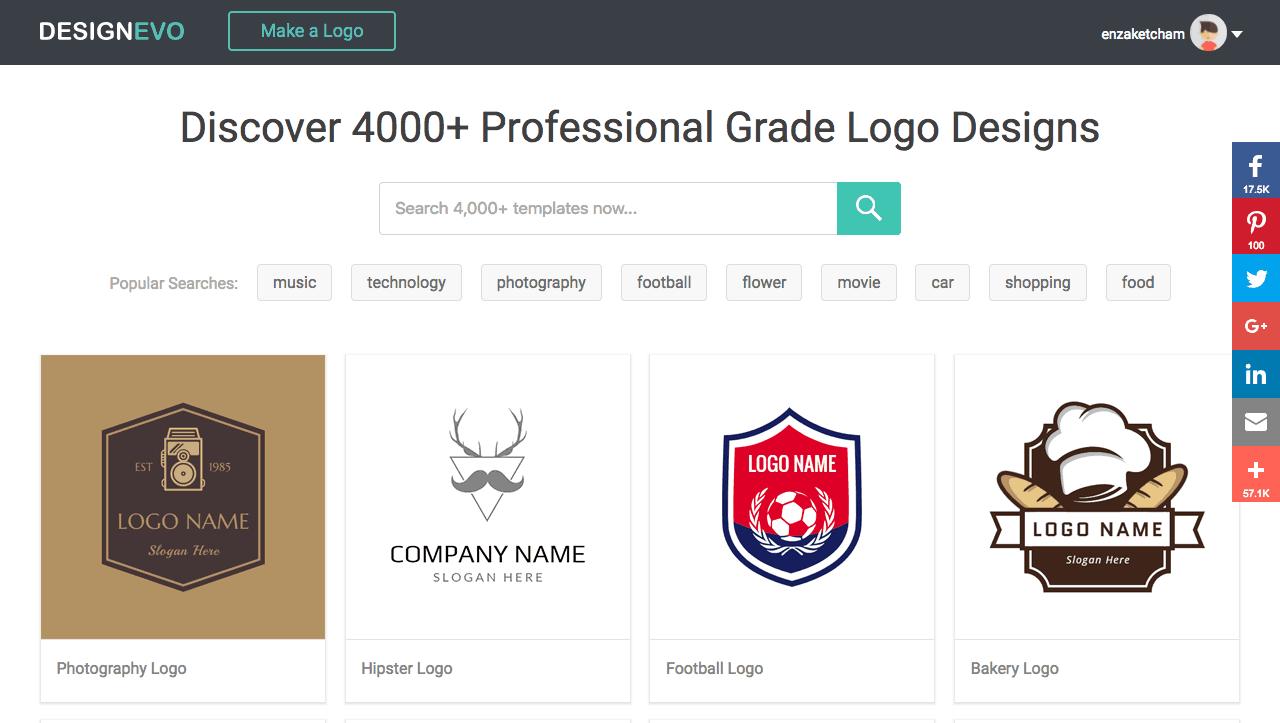 design evo logo template review 4000 options