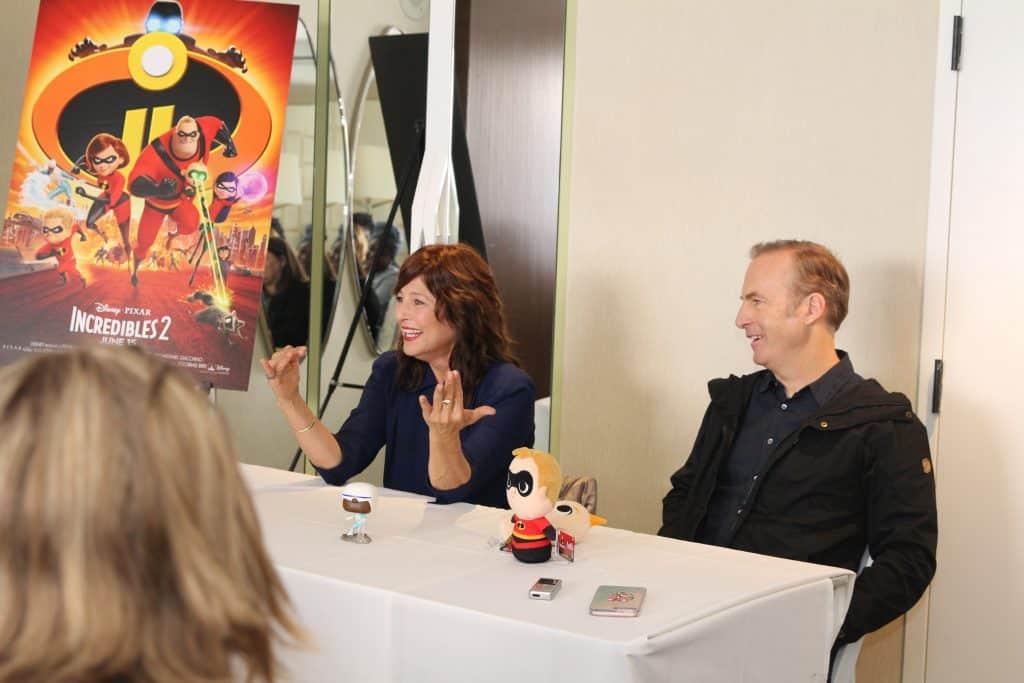 Incredibles 2 Bob Odenkirk and Catherine Keener Interview