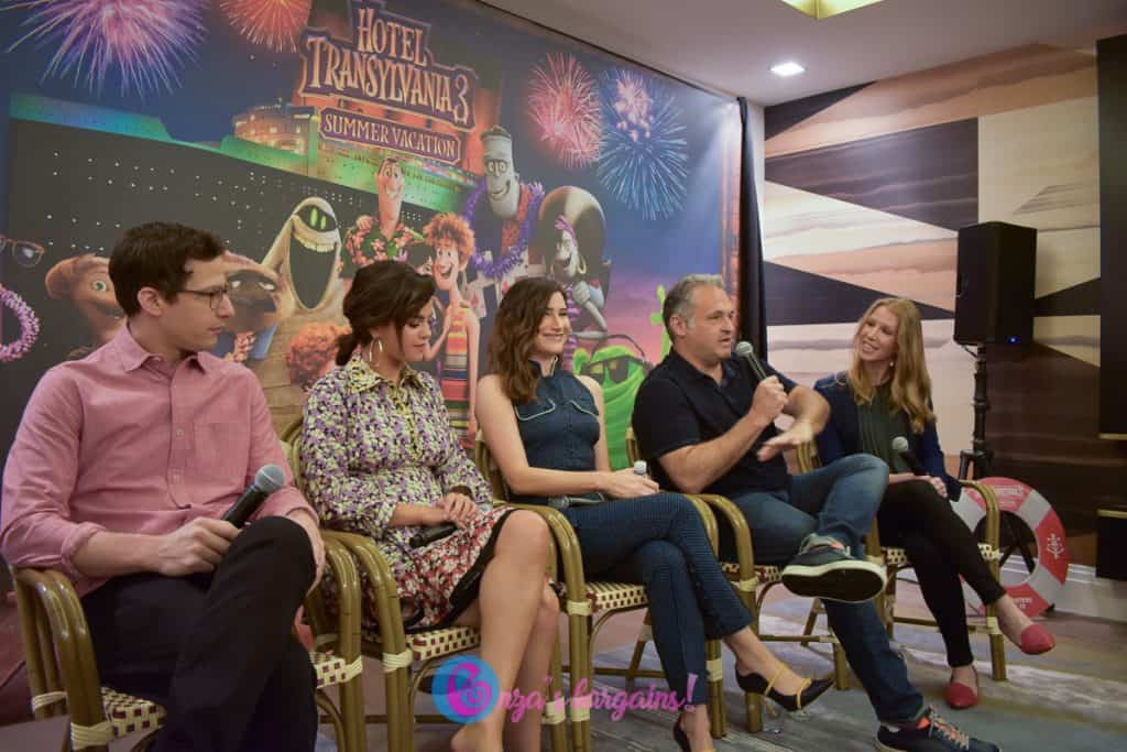 Hotel Transylvania 3: Summer Vacation Press Conference with Selena Gomez, Andy Samberg, Kathryn Hahn, and Director and Writer Genndy Tartakovsky