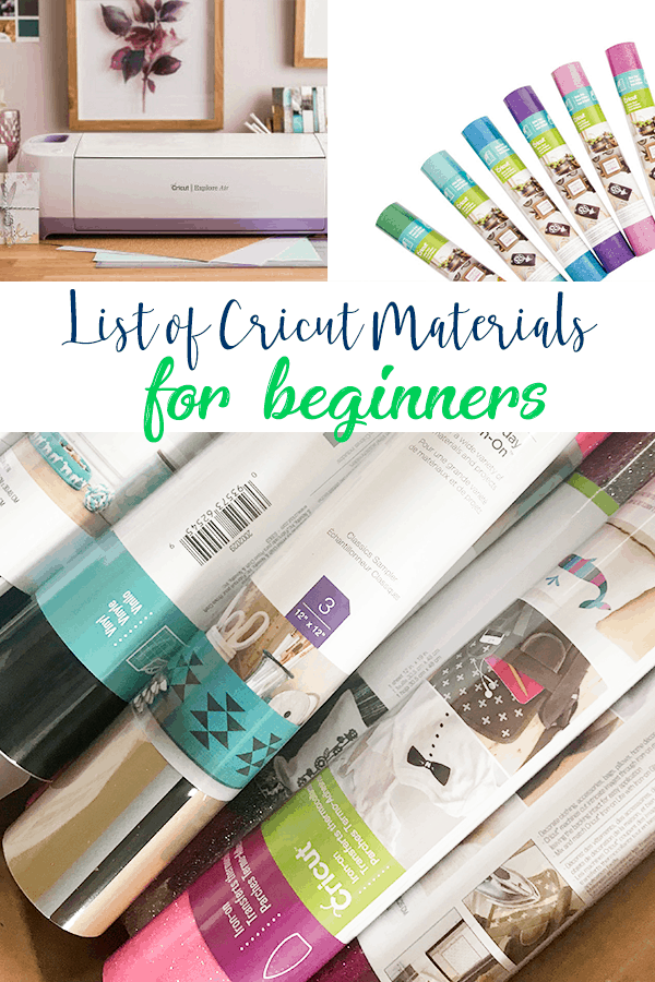 Cricut Tips for Beginners - Different Materials You need for Different Projects!