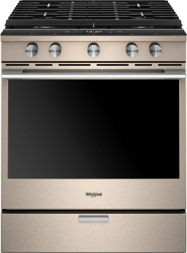 Whirlpool Sunset Bronze Gas Convection Range at Best Buy