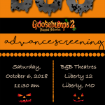 Goosebumps 2 Haunted Halloween Kansas City Advance Screening