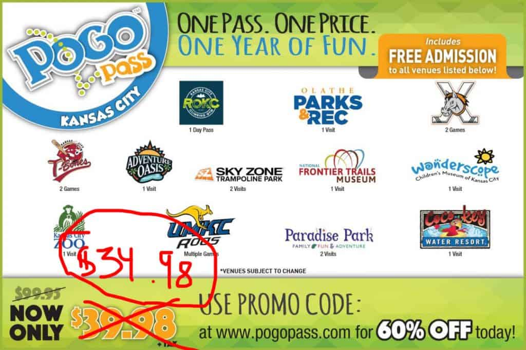 Pogo Pass Deals for Kansas City