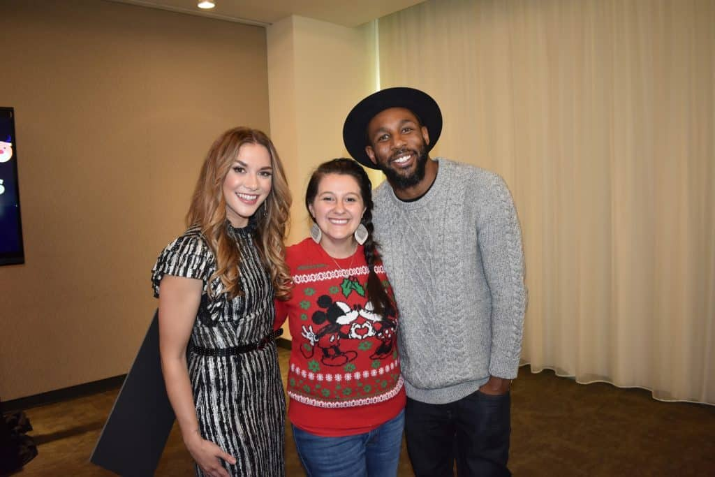 "tWitch and Allison Holkner with ABC's ""Pop Up Santa"" and ""Disney's Fairy Tale Weddings"""
