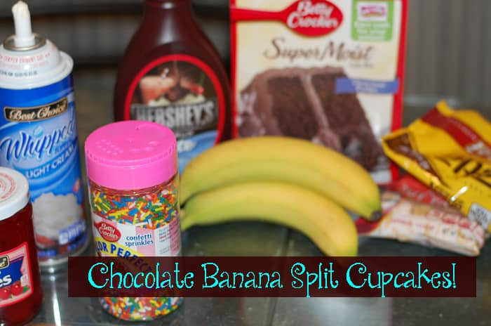 Chocolate Banana Split Cupcake Recipe