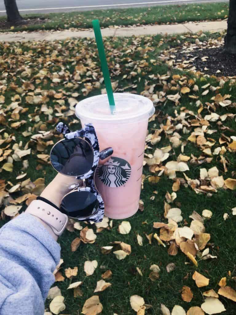 Saving Money at Starbucks - Fall Pink Drink